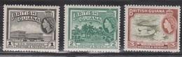 BRITISH GUIANA Scott # 253-5 MH - QEII Pictorials - British Guiana (...-1966)