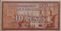 FRENCH INDOCHINA  P. 85c 10 C 1939 VF - Indocina