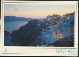 °°° 13008 - GREECE - SANTORINI - PANORAMA - 1992 With Stamps °°° - Grecia