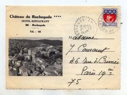 Rochegude -Château De Rochegude, Hôtel Restaurant - Carte Lettre - France