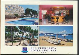 °°° 13009 - SPAGNA SPAIN - IBIZA BLU CLUB - HOTEL AUGUSTA -  With Stamps °°° - Ibiza