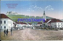 104383 SLOVAKIA SPISSKE VLACHY KIRCHDRAUF VIEW PARTIAL POSTAL POSTCARD - Slovaquie