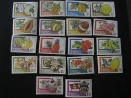 Antigua And Barbuda 1983  Fruits Definitive 18v SCOTT No.708-725  I201807 - Antigua And Barbuda (1981-...)