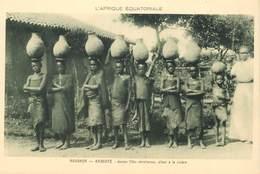 """CPA ROUANDA / RWANDA """"jeunes Filles Chrétiennes"""" - Rwanda"""