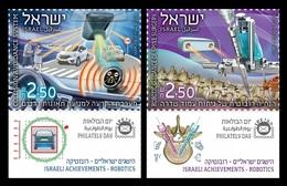 Israel 2018 Mih. 2655/56 Robotics. Avoidance System. Spine Surgery. Automobiles. Medicine MNH ** - Israel
