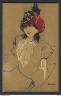 Frumpf  A/s - Lady In Muti-coloured Hat Postcard - Illustrators & Photographers
