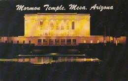 Arizona Mesa The Mormon Temple At Night - Mesa
