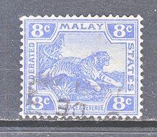 Malaya 46  (o)  Wmk 3 Multi CA  1906-22 Issue - Federated Malay States