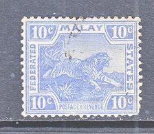 Malaya 47  (o)  Wmk 3 Multi CA  1906-22 Issue - Federated Malay States