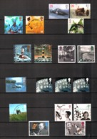 United Kingdom, Lot Of 306 Used Stamps - Birds, Bulls, Horses, Cars, Architecture, Cats, Bridges England UK Regno Unito - 1952-.... (Elisabetta II)