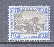 Malay 63  (o)  Wmk 4 Script CA  TIGER - Federated Malay States