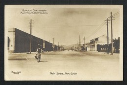 Sudan Old Black White Picture Postcard Gordon Stationery Khartoum Port Main Street Port View Card - Soudan