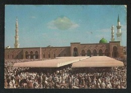 Saudi Arabia Picture Postcard Friday Prayer In Madina Mosque View Card - Saudi Arabia