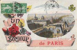 Un Bonjour De Paris - Panorama Pris De Saint-Gervais - Carte E.L.D. - Souvenir De...