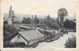 1933 - CHAMPAGNEY - Pont Sur Le Rahin - France