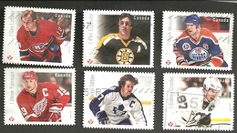 Sc. #2942-47 NHL Great Canadian Forwards Booklets 2016 Used K123 - 1952-.... Règne D'Elizabeth II