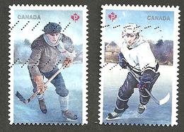 Sc. # Sc #3040 & 41 History Of Hockey Joint Cda./US Pair 2017 Used K147 - 1952-.... Règne D'Elizabeth II
