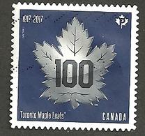 Sc. # Sc #3044 Toronto Maple Leafs 100 Years 2017 Used K157 - 1952-.... Règne D'Elizabeth II