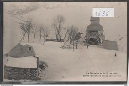 Cpa 1636 Chapelle N D De Héas Après L'avalanche Du 23 Janvier 1915 ( Rare) - Andere Gemeenten