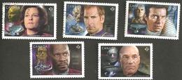 Sc. # 2986-90 Star Trek Set #2 Used 2017 K197 - 1952-.... Règne D'Elizabeth II