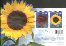 Sc. #2440 Flowers: Sunflower Souvenier Sheet 2011 D009 - 1952-.... Règne D'Elizabeth II