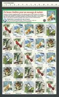 B53-40 CANADA Canadian Wildlife Federation Xmas Seals Sheet 1992 MNH French - Local, Strike, Seals & Cinderellas