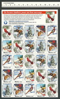 B53-41 CANADA Canadian Wildlife Federation Xmas Seals Sheet 1991 MNH French - Local, Strike, Seals & Cinderellas