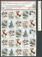 B53-43 CANADA Canadian Wildlife Federation Xmas Seals Sheet 1984 MNH English - Local, Strike, Seals & Cinderellas