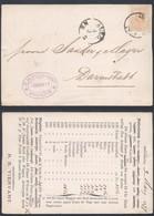 A174 Carte De Anvers à Darmstadt Allemagne Germany 1877 Pétrole Oil - 1869-1888 Lying Lion
