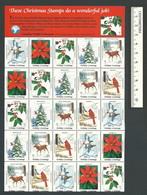 B53-45 CANADA Canadian Wildlife Federation Xmas Seals Sheet 1983 B MNH - Local, Strike, Seals & Cinderellas