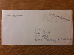 Enveloppe Du Conseil Constitutionnel - Marcophilie (Lettres)