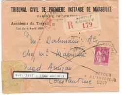 10617 - RETOUR DE L OUED AMIZOUR - Storia Postale