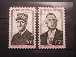 VEND BEAUX TIMBRES DES COMORES N° 77 + 78 , XX !!! - Neufs
