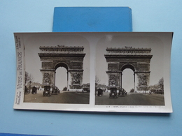 PARIS : Arc De Triomphe De L'Etoile : S. 3 - 3067 ( Maison De La Bonne Presse VUES De FRANCE ) Stereo Photo ! - Stereoscopio