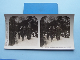 PARIS : Jardin D'Acclimatat, Promen, Elephant : S. 14 - 3310 ( Maison De La Bonne Presse VUES De FRANCE ) Stereo Photo ! - Stereoscopio