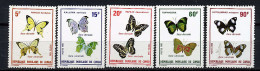 Rep. Congo ** N° 566 à 570 - Papillons - Congo - Brazzaville