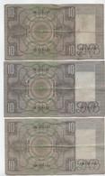 3 BILLETS PAYS BAS.3 X  TIEN  GULDEN. De 1934 .1935. - Other