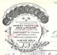 Facture & Bon SNCF 1948 / 93 AUX LILAS / PATRELLE & Fils / Parfumerie Du Phénix, Savon ZEA, Pâte Au Panama - France