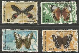 Thailand - 1984 Butterflies Used   Sc 1075-8 - Thailand