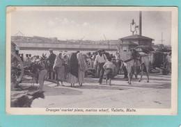 Old Post Card Of Oranges Market Place,Marina Wharf,Valletta,Malta,R86. - Malta