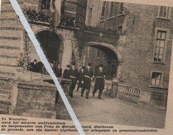 WESTERLO..1938.. ZILVEREN AMTSJUBILEUM ALS BURGEMEESTER PRINS De MERODE - Vecchi Documenti