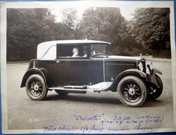 AUTOMOBILE CROISETTE FAUX CABRIOLET CAROSSERIE CHAPRON 12 CV PRIX 54200 FRANCS DIMENSION PHOTO  23 X 18 Cm - Automobiles