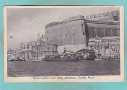 Old Post Card Of Custom House And Upper Barracca,Valletta,Malta,R86. - Malta