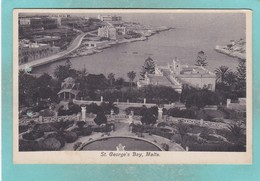 Old Post Card Of St. George`s Bay,Malta,R86. - Malta