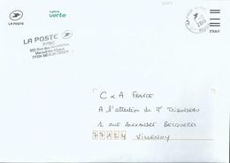 Cachet Manuel _ Code ROC 38368A - Mareuil Le Meaux - Sur Enveloppe De Service - Code FIM FRAV - Handstempels