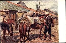 Cp Sarajevo Bosnien Herzegowina, Pferde, Mann In Tracht, Straßenpartie - Bosnien-Herzegowina
