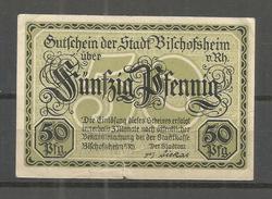 364a * NOTGELD DES KREISES ERBACH ÜBER 50 PFENNIGE * GEBRAUCHT **!! - Deutschland