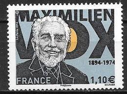 France 2014 N° 4906 Neuf Maximilien Vox, à La Faciale - France