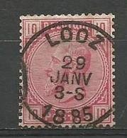 E5 OCB Nr 38 Centrale Afstempeling LOOZ - 1883 Léopold II