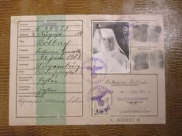 Luxembourg, Deutsches Reich - KENNKARTE, Ordensschwester, Soeur, Ausgestellt In KOBLENZ - 1940-1944 Occupazione Tedesca